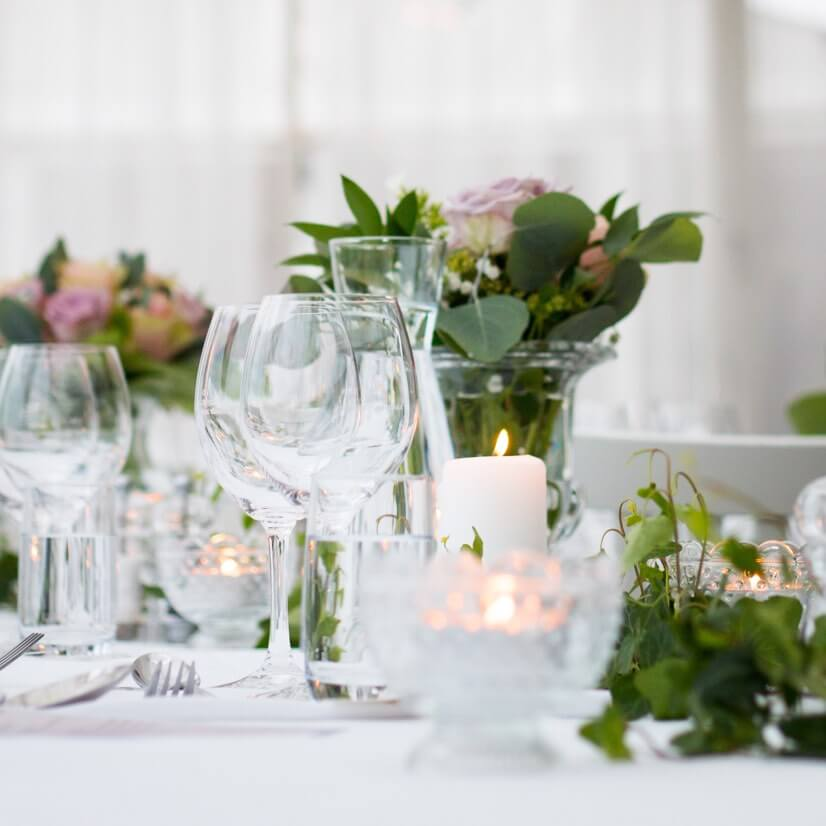 Photo of wedding table decorations